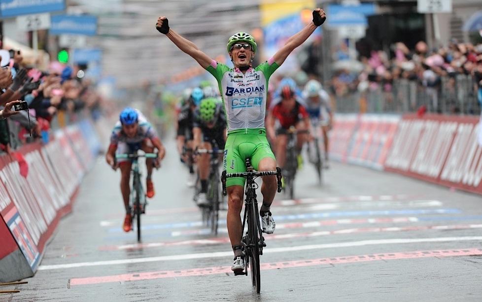 Enrico Battaglin, 23, vinner etapp 4