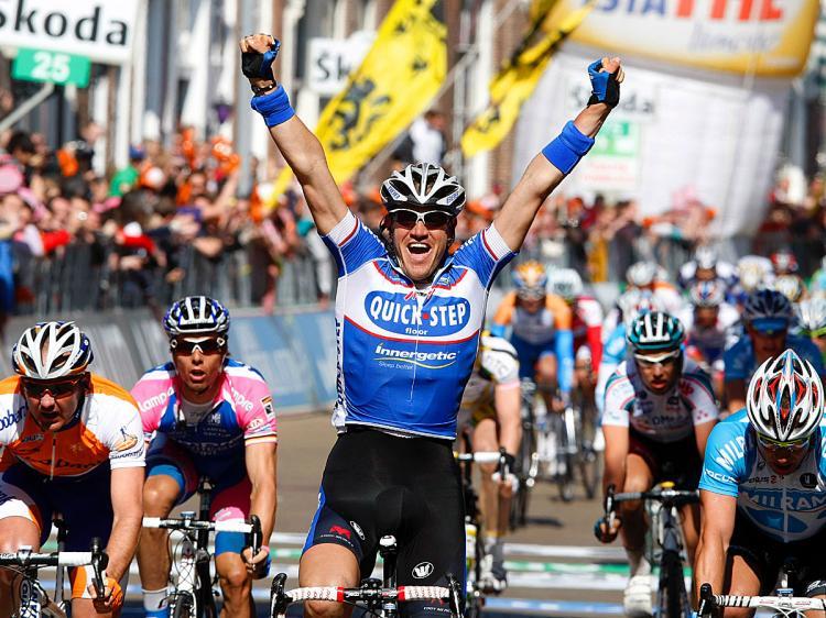 Wouter Weylandt vinner etapp 3 av Giro d'Italia 2010